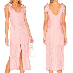 NWT Tularosa Baby Pink Birdie Midi Dress Size XS